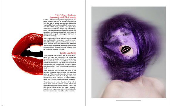 Beauty Editorial Tear Sheet