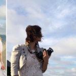 Photographer behind the scenes