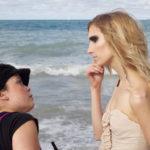 Beach photoshoot behind the scenes