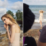 Beach photoshoot behind the scenes
