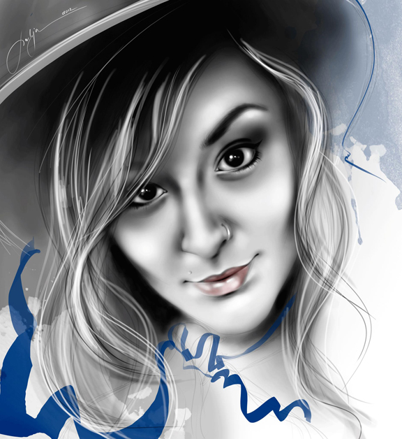 Drawing of Jennifer Avello