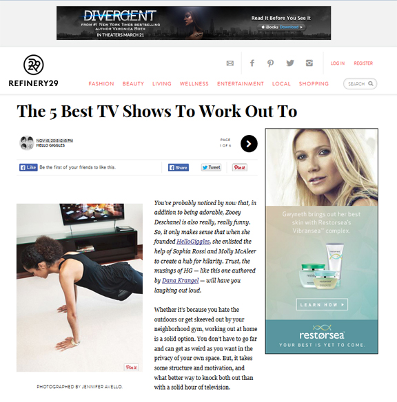 Refinery29 wellness jennifer avello photography for Tv shows to see in new york