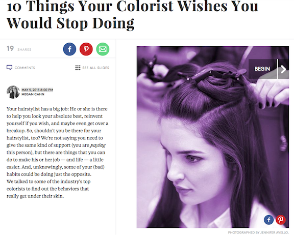 Things Your Colorist Wishes You would stop doing