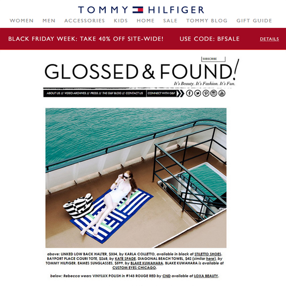 Tommy Hilfiger, Style Editors Eye August 2015