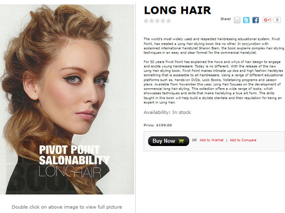 Buy Pivot Point Salonability Long Hair Book