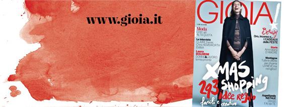 Gioia Magazine Italia 12, Dec 2015 Cover