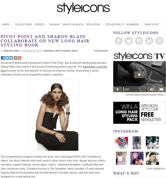 Pivot Point Salonability Long Hair Book on Style Icons