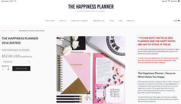 The Happiness Planner 2016 Dated