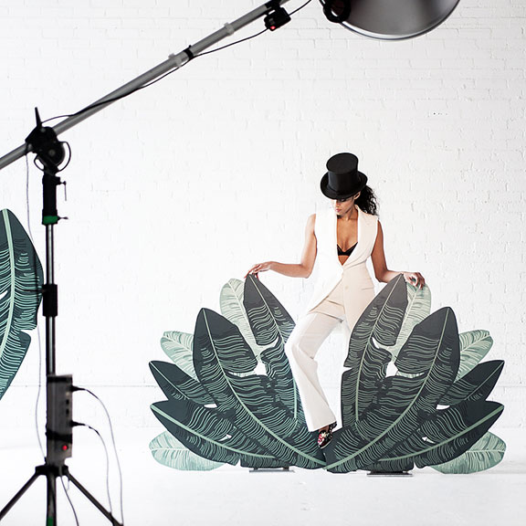 Behind The Scenes Glossed And Found Spring Fashion Palm Set
