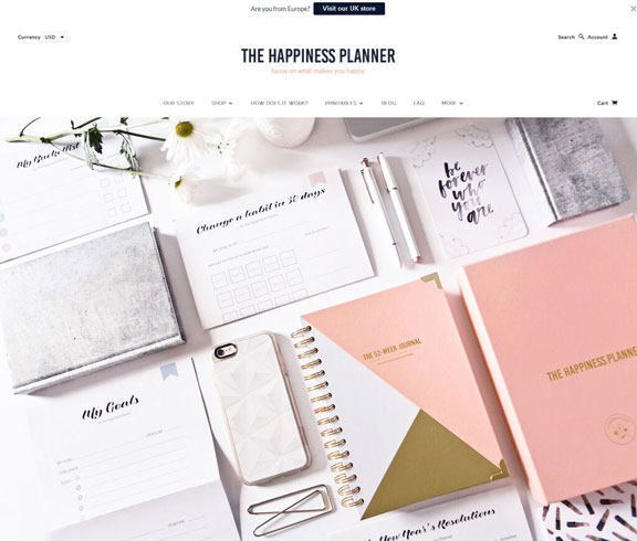 The Happiness Planner HomePage