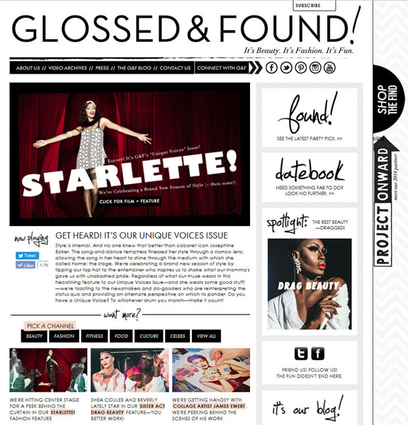 Glossed and Found Spring Fashion Homepage