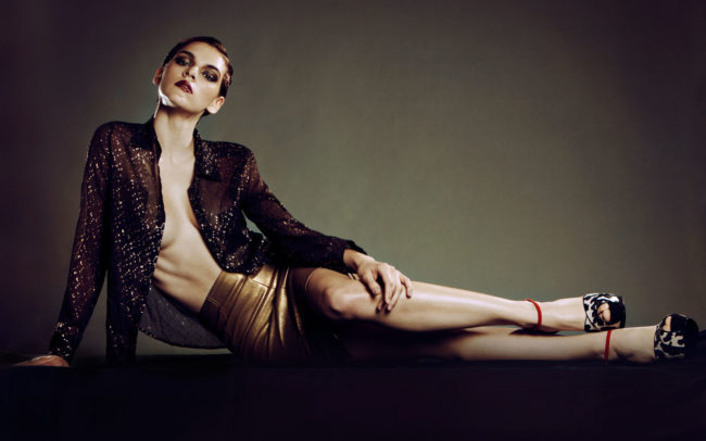 Metallic fashion editorial in Bambi Magazine