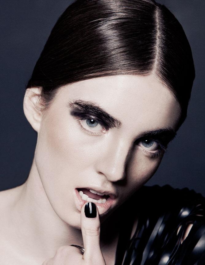 dark beauty portrait