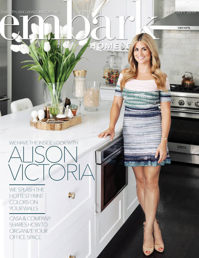 Alison Victoria on Cover of Embark Magazine