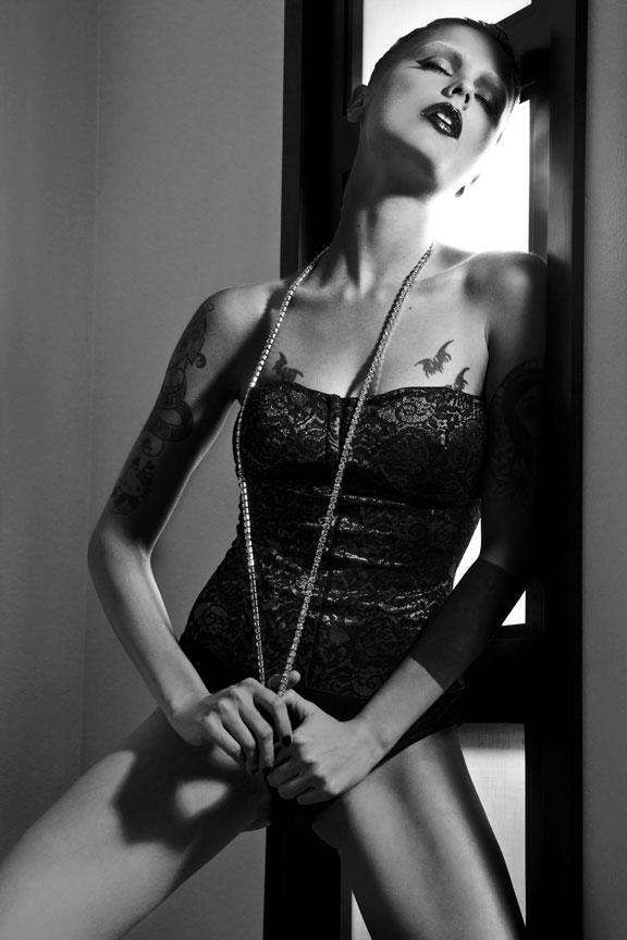 punk rock portrait in corset