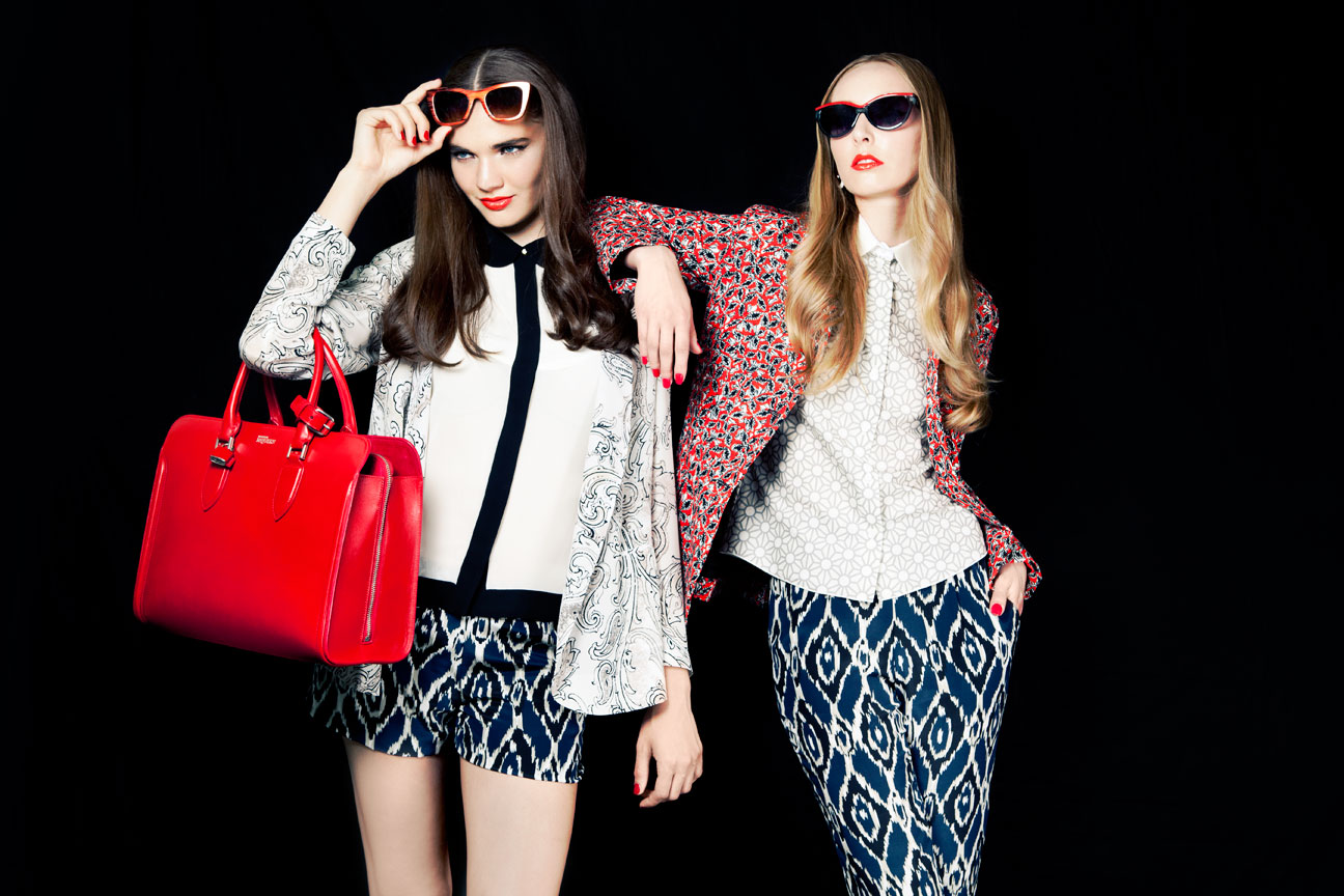 mixed and matched prints fashion editorial