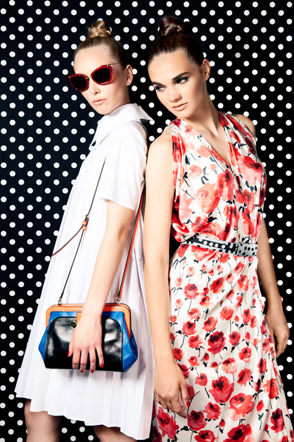 Two girls in prints