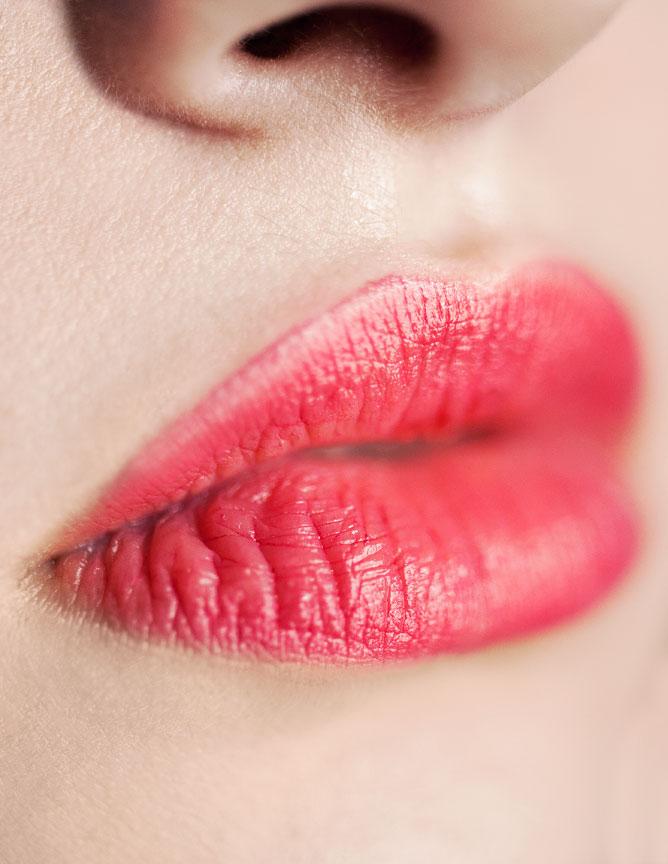 Macro Beauty Image of Lips