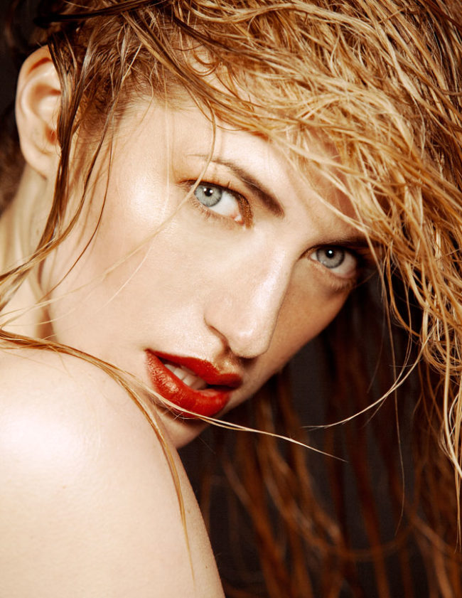Gold Glow with Red Lip Beauty
