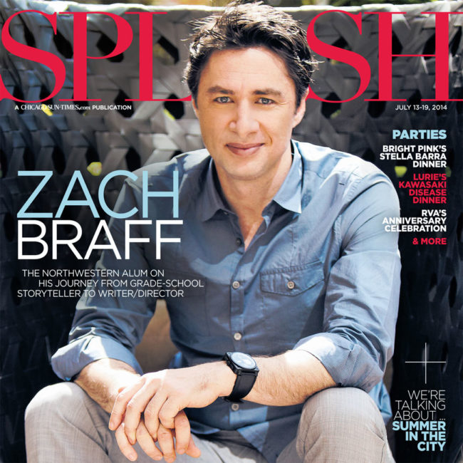Chicago Suntimes Splash Zach Braff Cover
