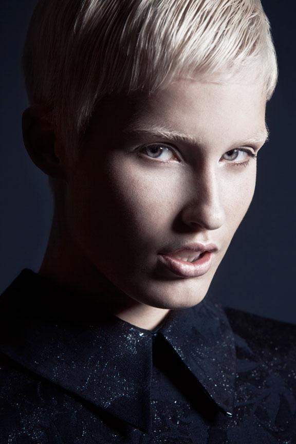 Mckey Sullivan, Blonde Pixie Haircut