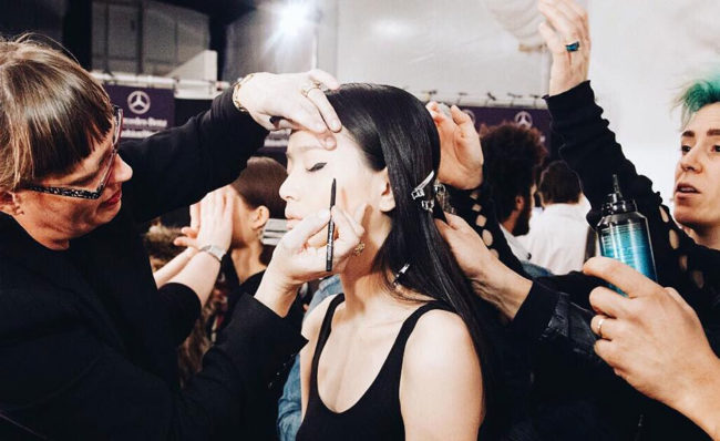 Backstage Mara Hoffman, NYFW