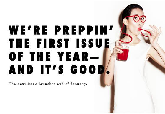 Glossed and Found New Year, New Issue Ad