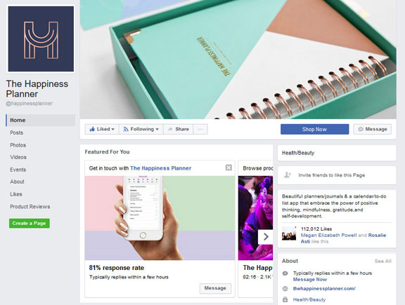 The Happiness Planner Facebook Page Banner