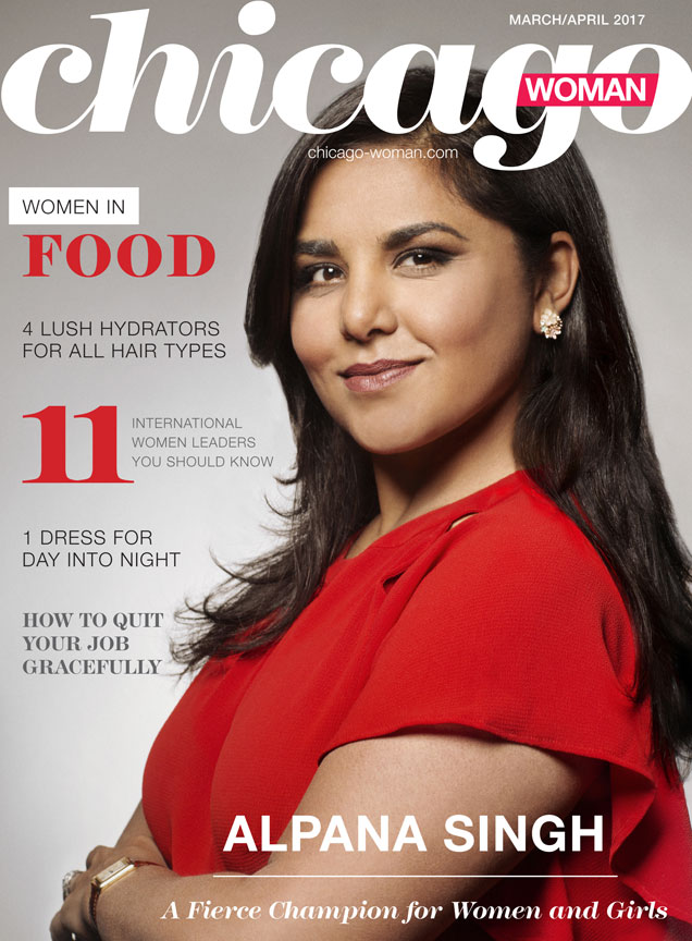 Chicago Woman March/April Cover with Alpana Singh