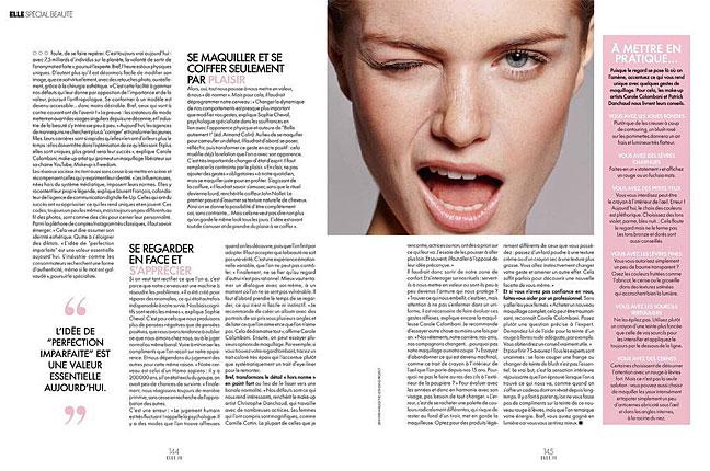 Girl Winking in Elle France