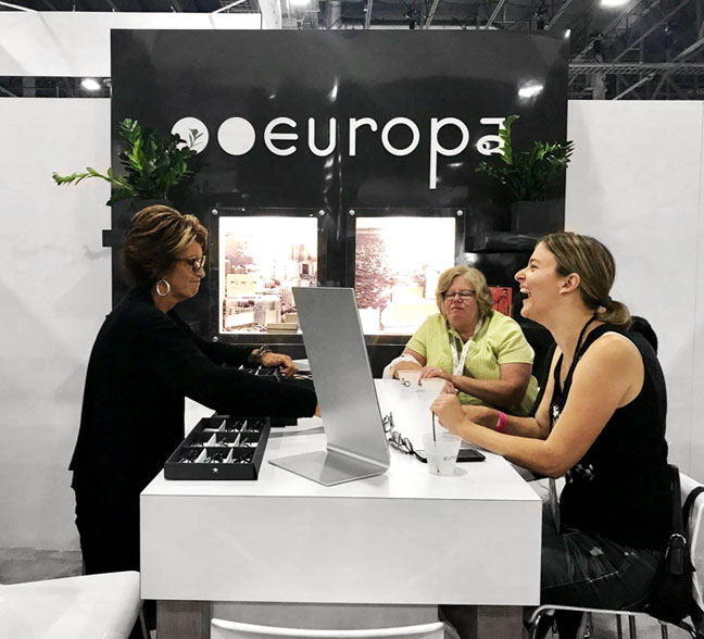 Europa Eyewear Booth at Vision Expo West