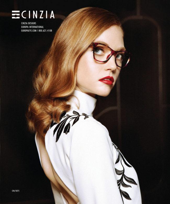 2018 Cinzia Ad for Europa Eyewear