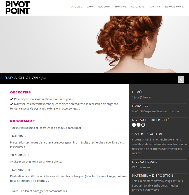 Pivot Point Long Hair Chignon Express