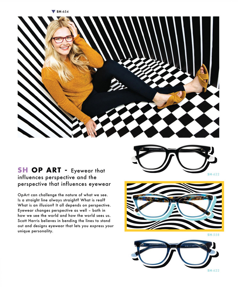 Scott Harris OP ART Ad Campaign in 20/20 Mag