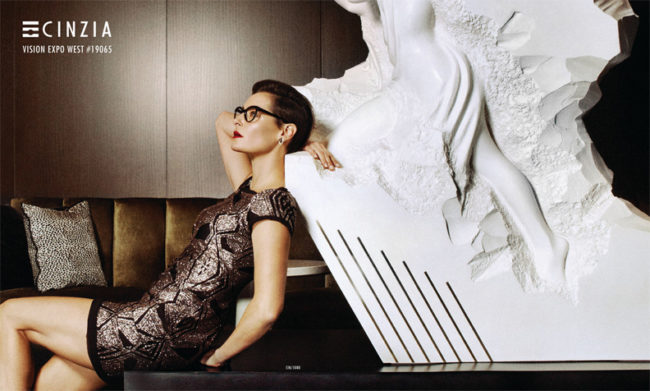 Cinzia for Europa Eyewear Advertorial for 20/20 Magazine